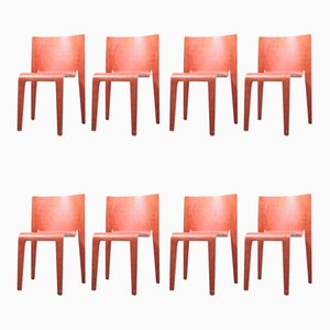 Postmodern Birch and Plywood Dining Chairs by Philippe Starck, 1980s, Set of 8