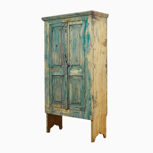 Antique Rustic Pine Cabinet, 1910s