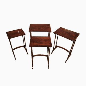 Antique Edwardian Mahogany Quartetto Nesting Tables