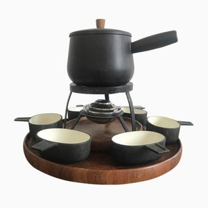 Mid-Century Danish Rosewood Fondue Serving Set from Digsmed