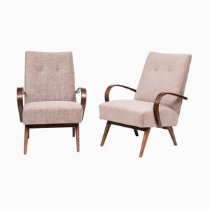 Vintage Sessel mit Gestell aus Bugholz, 1950er, 2er Set