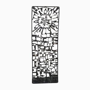 Wandtafel aus Schmiedeeisen, 1950er