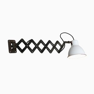 Mid-Century Industrial Enamel and Metal Sconce, 1950s