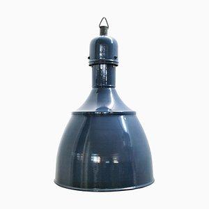 Industrielle Deckenlampe aus emailliertem Eisen, 1950er