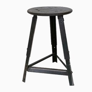 Vintage Industrial Machinist Stool