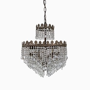 Vintage Heart-Shaped Waterfall Chandelier