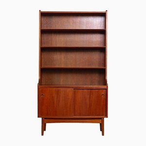 Mid-Century Danish Wooden Bookcase by Johannes Sorth for Bornholm, 1960s