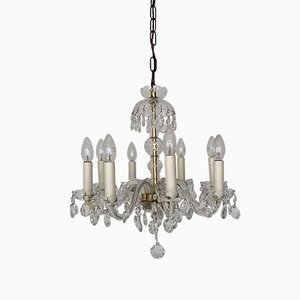 Antique French Crystal Swan Neck Chandelier, 1900s