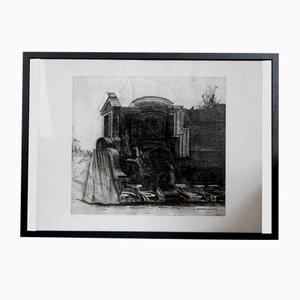 Vintage Monumenti E Veicoli Etching by Peter Ackermann