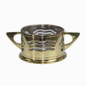 Antique Art Nouveau Brass Bowl from Argentor