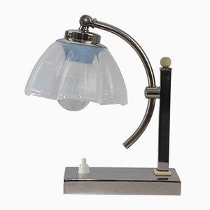 Lampe de Bureau Vintage en Verre Opalin