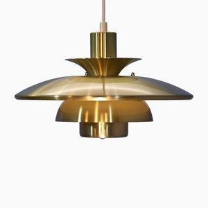 Danish Brass Pendant Lamp from Lyskær Belysning, 1970s