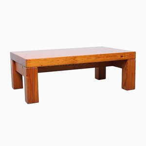 Danish Solid Pine Coffee Table by Ilmari Tapiovaara, 1970s
