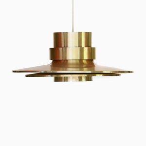 Aluminum Ceiling Lamp from Lyskær Belysning, 1970s