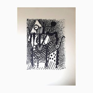 Helene Chez Archimede Woodcut Print by Pablo Picasso, 1955