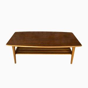 Table Basse Vintage en Teck, 1970s