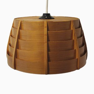 Scandinavian Modern Pine Ceiling Lamp, 1960s