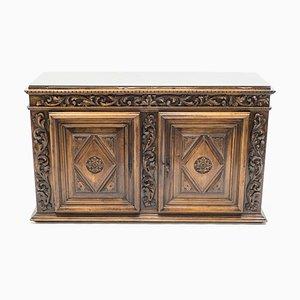 Bufet Empire francés antiguo de madera, siglo XVIII
