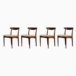 Chaises de Salon Mid-Century en Teck de Greaves & Thomas, Set de 4