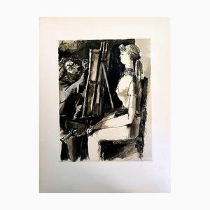Lithographie The Human Comedy par Pablo Picasso, 1954