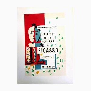 Lithographie The Human Comedy Title Page par Pablo Picasso, 1954