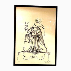 Litografia Les Songes Drolatiques di Salvador Dali, 1973