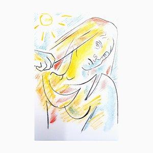 Antigone Lithograph by Jean Cocteau, 1957