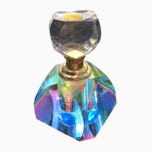 Vintage Sommerso Parfümflasche aus buntem Muranoglas
