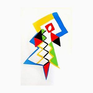 Affiche Living Pochoir par Sonia Delaunay, 1969