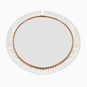 Großer runder Vintage Spiegel von Josef Frank, 1970er