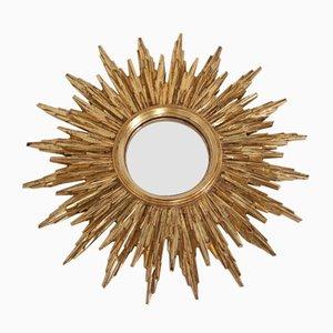 Espejo convexo Mid-Century dorado de Deknudt, años 60