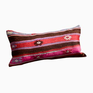 Red-Brown Christmas Collection Kilim Pillow Covers by Zencef Contemporary, Set of 2