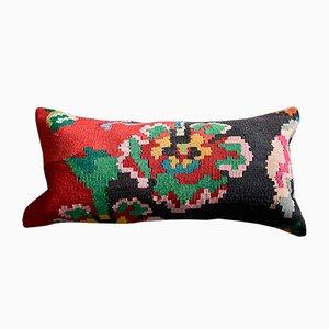 Federa Kilim nera, verde e rossa di Zencef Contemporary