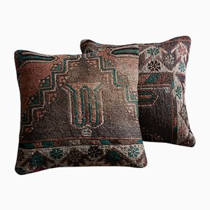 Wool & Cotton Striped Kilim Pillow Covers by Zencef Contemporary, Set of 2