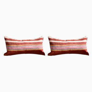 Christmas Collection Striped Kilim Pillow Covers by Zencef Contemporary, Set of 2