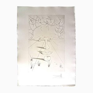 Large Aurelia Portfolio Etchings by Salvador Dali, 1972, Set of 4