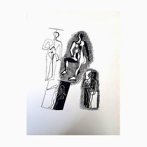 Helene Chez Archimede Holzstich von Pablo Picasso, 1955