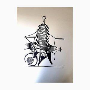 Helene Chez Archimede Holzschnitt von Pablo Picasso, 1955