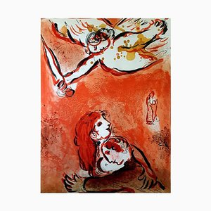 The Maid of Israel Lithograph by Marc Chagall, 1960s