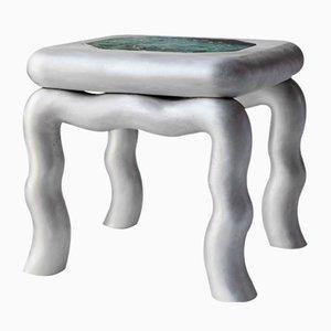 Chaise d'Appoint ou Plateau d'Appoint Emeraude 24-Carat ou Feuille d'Or en Chrome par Lincoln Kayiwa pour KAYIWA, 2019