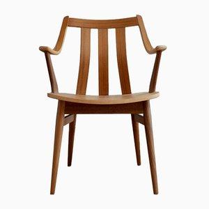 Vintage Scandinavian Modern Wooden Armchair, 1960s