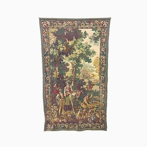 Mid-Century Hunting Scene Wall Tapestry