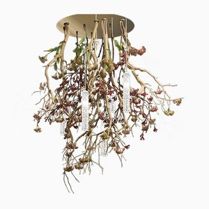 Manzanite Flower Power Chandelier with Murano Glass Beads from VGnewtrend