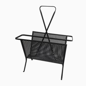French Iron Magazine Rack by Mathieu Matégot, 1950s