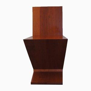 Italienischer Vintage Zig Zag Stuhl aus Kirschholz von Gerrit Rietveld für Cassina, 1973