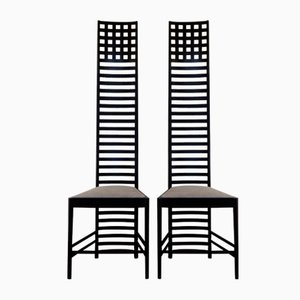 Italian Hill House 1 Side Chairs by Charles Rennie Mackintosh for Cassina, 1970s, Set of 2