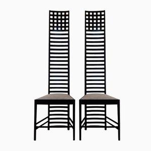 Italienische Hill House 1 Beistellstühle von Charles Rennie Mackintosh für Cassina, 1970er, 2er Set