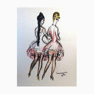 The Models Lithografie von Kees van Dongen, 1960