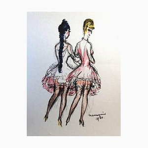 The Models Lithograph by Kees van Dongen, 1960