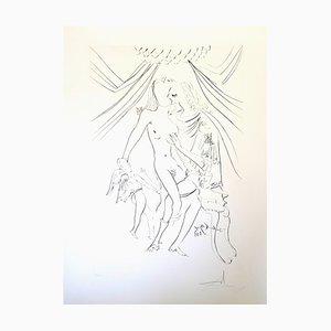 Acquaforte Venus, Mars e Cupidon di Salvador Dali, 1971